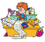 33074-Clipart-Illustration-Of-A-Smart-School-Boy-Writing-A-Long-Story-At-A-Desk